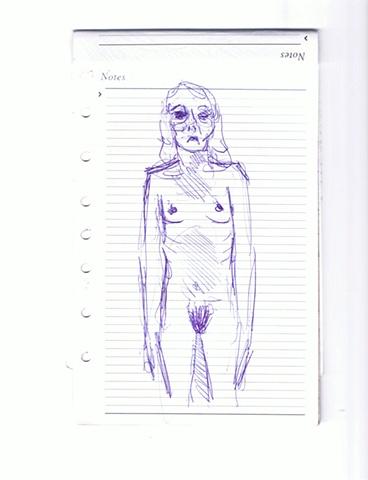 Aby Ruiz - Mujer Moribunda, Desnuda
