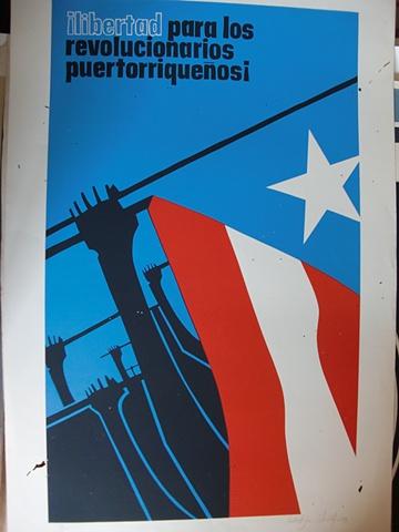 Libertad para los revolucionarios Puertorriquenos (Cartel)