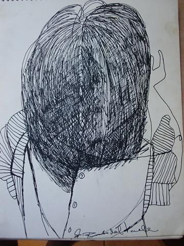Nina de espaldas