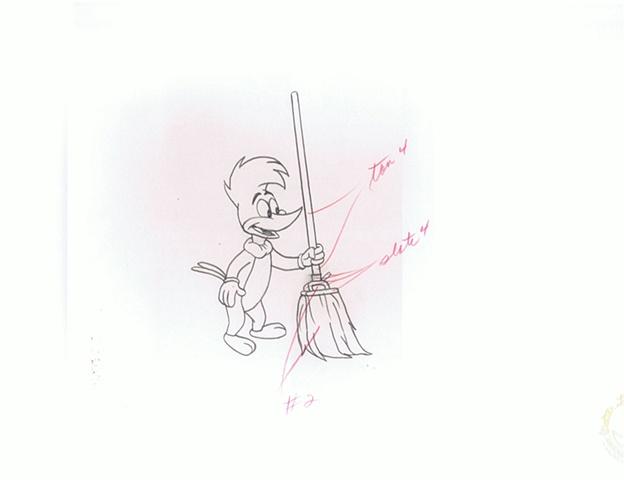 Robert Lee Miller - Woody Woodpecker Sweeping