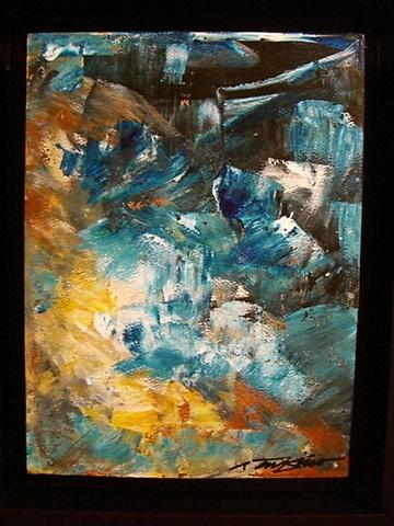 Rafael Tufino - Abstraccion Azul