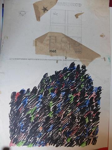boceto cartel de el grito de lares