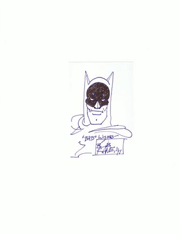 Bob Kane - Bats Wishes