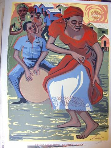 Bailando Bomba - Serigrafia