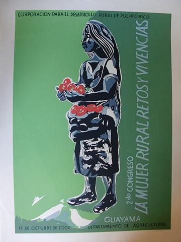 La mujer rural retos y violencia - Cartel