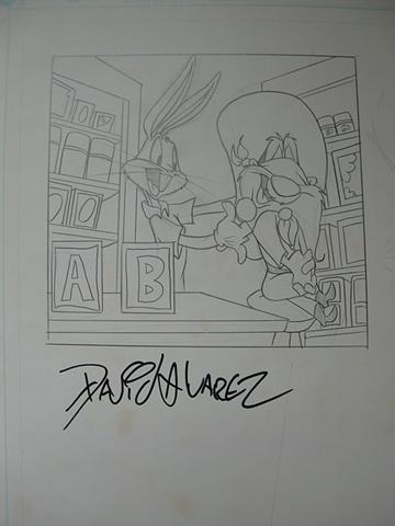 Bugs Bunny y Sam Bigotes