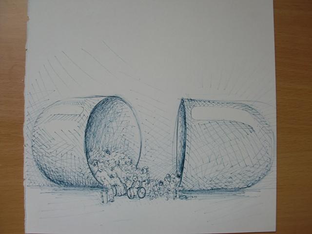 Pastilla Dibujo boceto