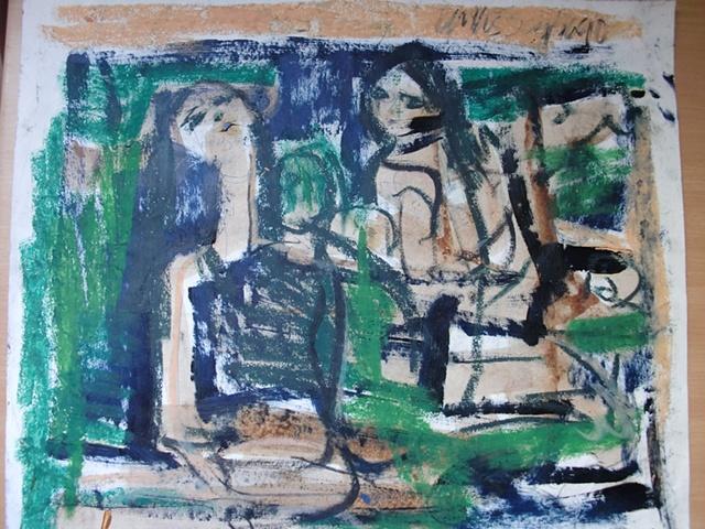 2 mujeres sentadas