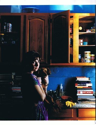 Priscila Vazquez - Autoretrato con Perro