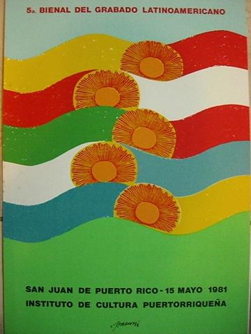 Antonio Marconi - Cartel 5ta Bienal de Grabado