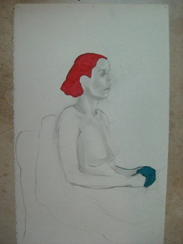 Quintin Rivera - Mujer Sentada