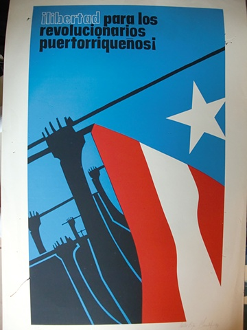 Libertad para los Revolucionarios Puertorriquenos (Serigrafia)