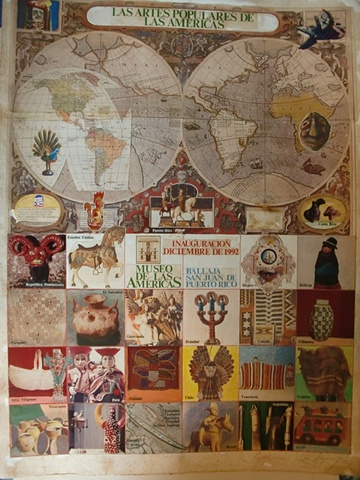 Collage original Las Artes Populares de America