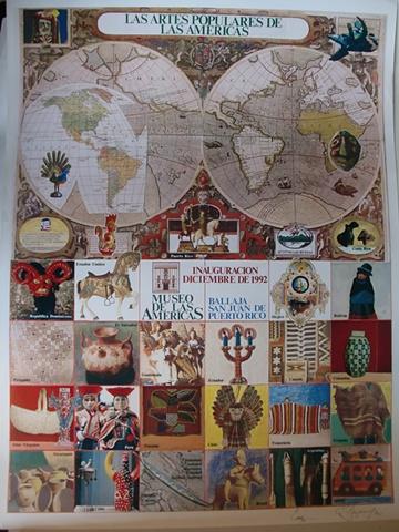 Cartel Las Artes Populares de America