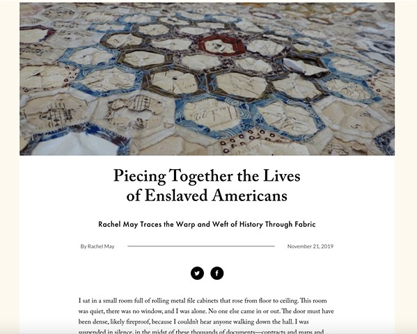 """Piecing Together the Lives of Enslaved Americans,"" LitHub"