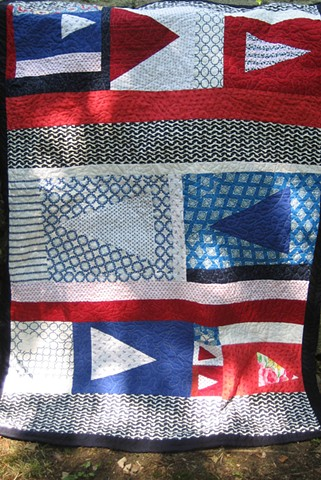 Katelyn's Quilt (I got the idea for the sailing flags from Ashley of filminthefridge)