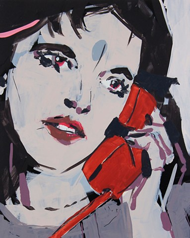 Actress with Telephone