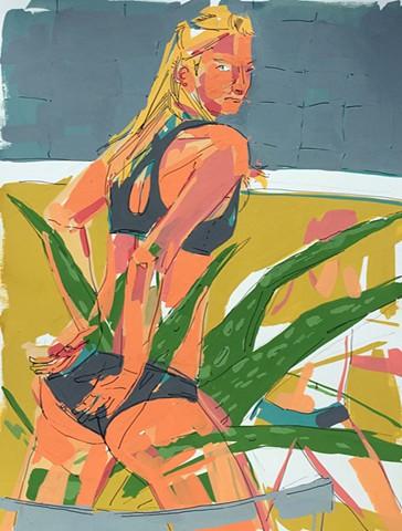 Athlete with Aloe I