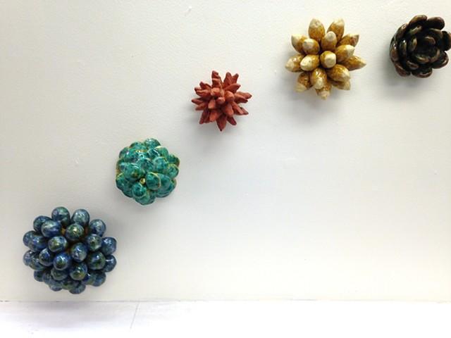 24 foot ceramic installation at the Resnick Gallery, Long Island University, Brooklyn, NY
