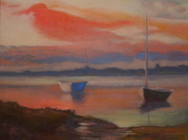 Polpis Harbor --autumn sunset