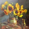 Sunflowers and Brass
