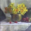 Brass Kettle with Daffodils