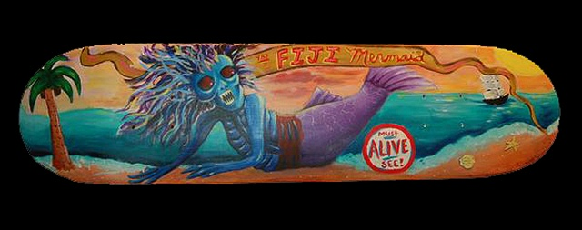 Fiji Mermaid skate deck sold