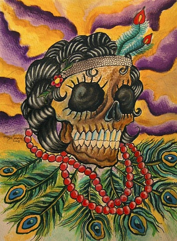 Sugar Skull Injun Flapper