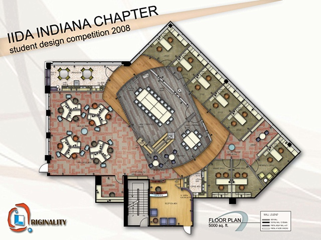 •   IIDA Design Competition - Floor Plan