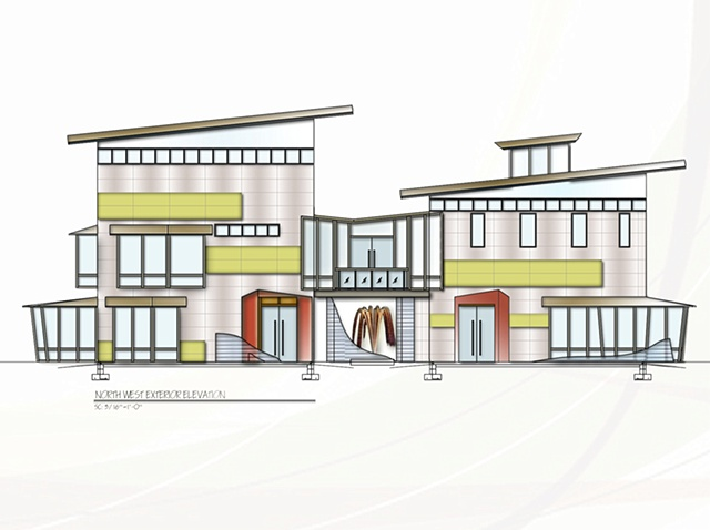 •   Design and Stain Glass Studio - North West Exterior Elevation