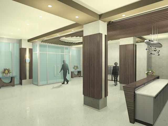 •  Apartment Lobby Design - Angle 2