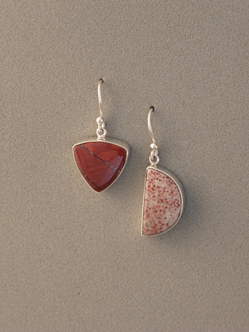 Sterling Silver, Stones:  Red River Jasper, Red Spotted Jasper