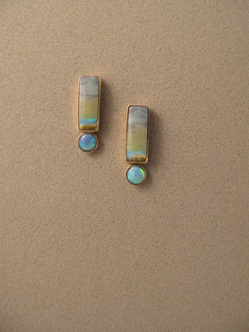 14kt Gold, Stones:  Opals