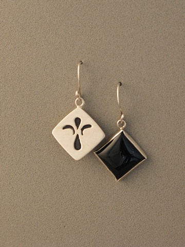 Sterling Silver, Stone:  Onyx