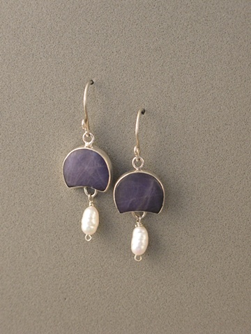 Sterling Silver, Stones:  Stitchtite, Chinese Fresh Water Pearl