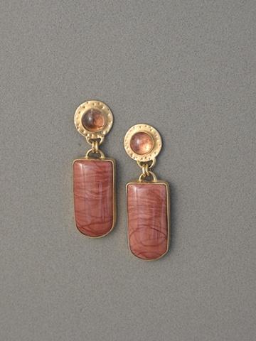 14kt Gold, Stones:  Tourmaline, Imperial Jasper