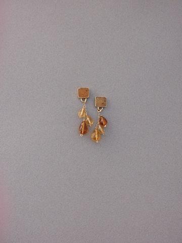 14kt Gold, Stones:  Druzy, Citrine Briolettes