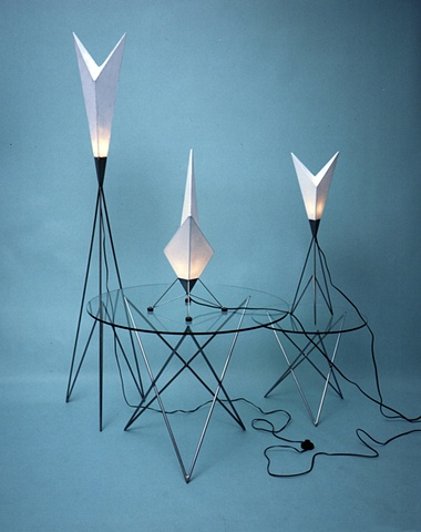 """Arrowhead"" floor and table lamps"