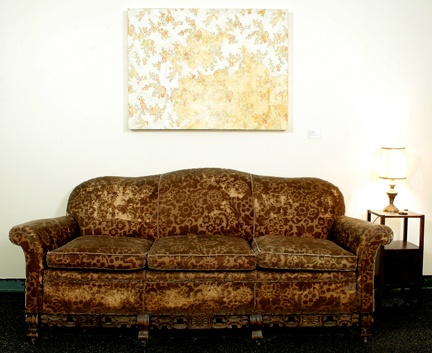 Sofa and Lamp