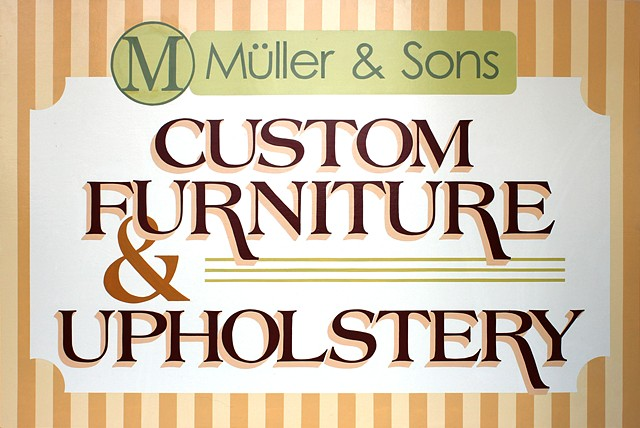 Custom Designed, Hand Painted Sign for Muller and Sons; Los Angeles, CA