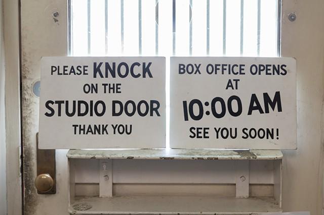 Box Office Signs - Bob Baker Marionette Theatre