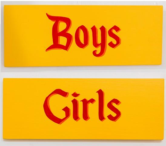 Girls/Boys Restroom Signs