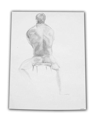 Guy on Stool