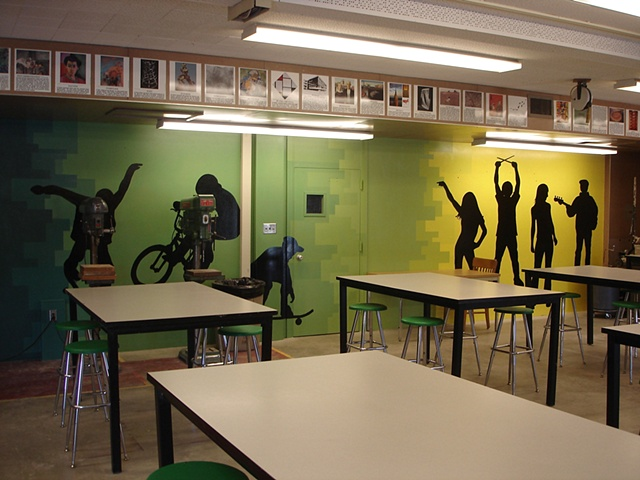 classroom mural: right side