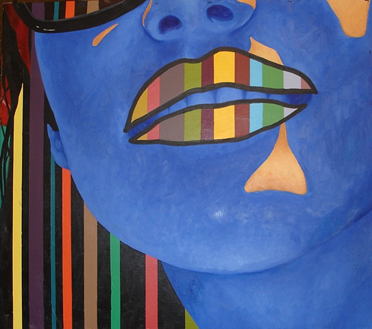 Striped Girl: Brad Jones/Daniel Baxter collaboration