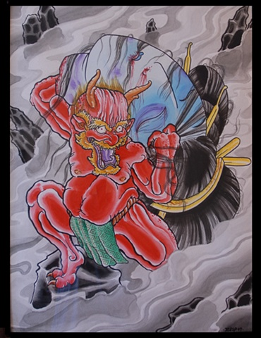 Oni and Geisha head