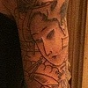 Severed Geisha head sleeve