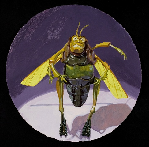 """""""Portrait of an Angry Grasshopper"""""""