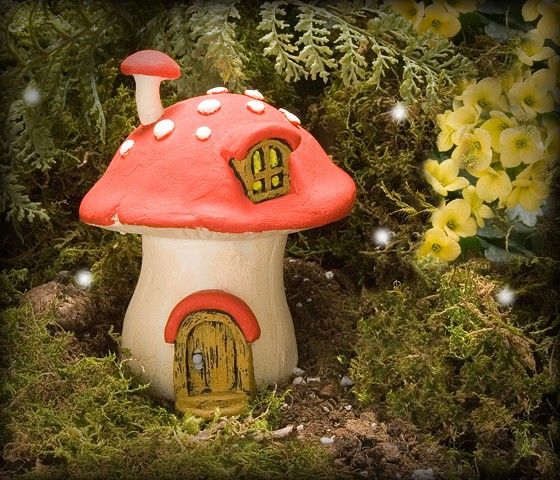 Red Mushroom Fairy Home