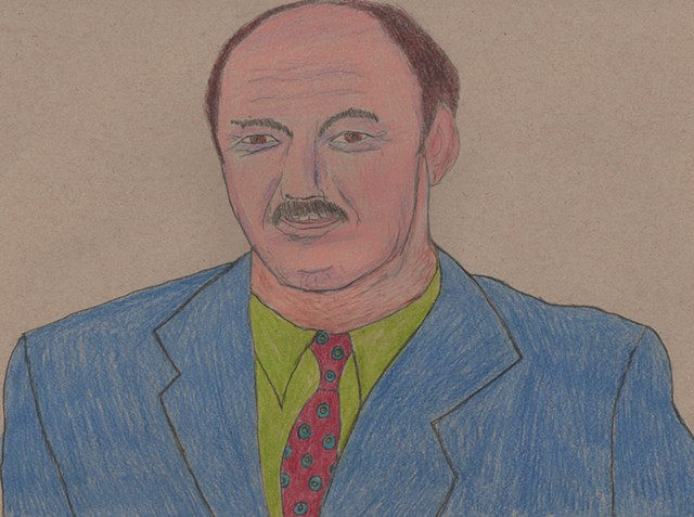 Portrait of Mean Gene Okerlund by Christopher Stanton